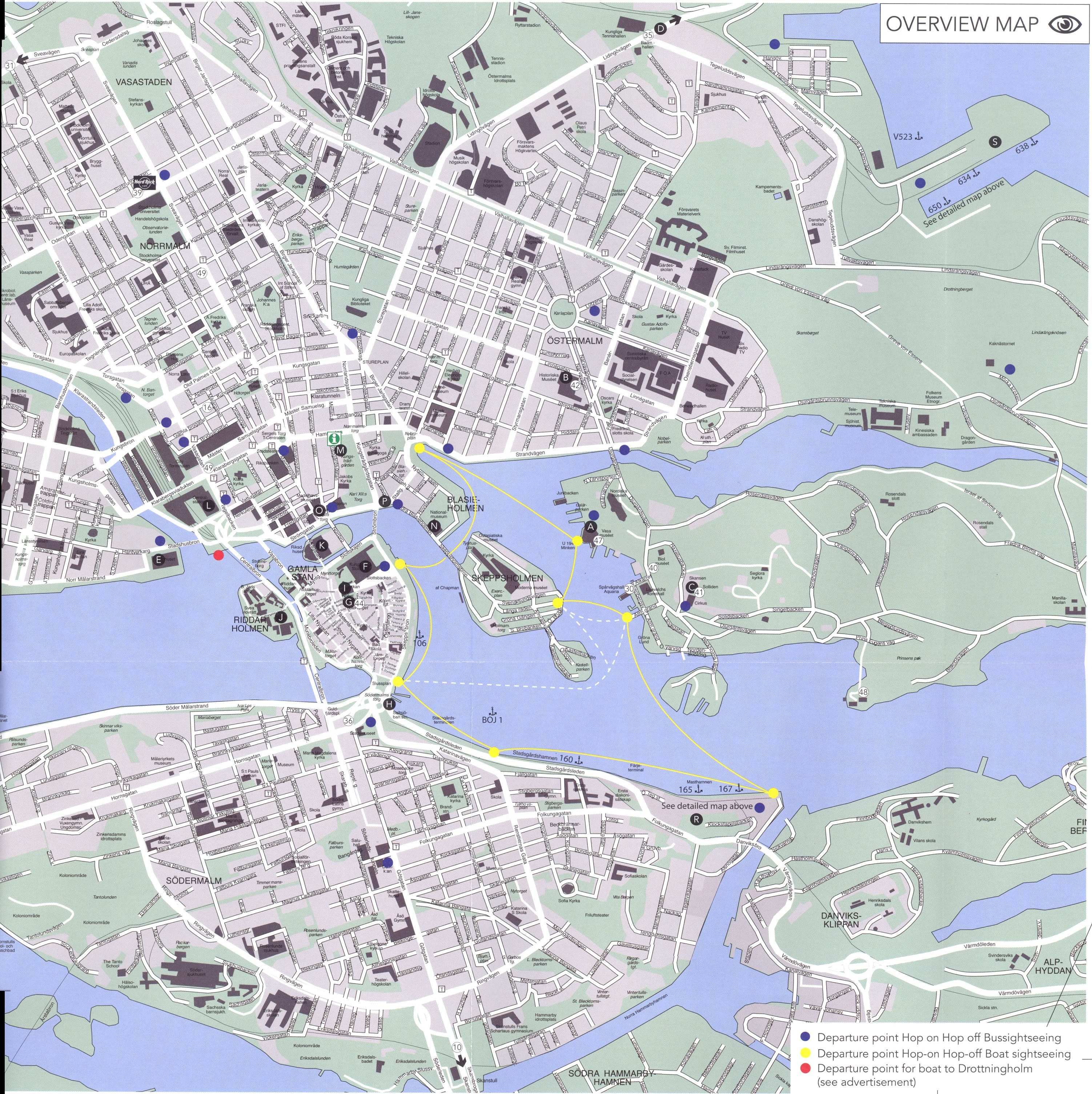 Maps Of Stockholm Detailed Map Of Stockholm In English Maps Of - Sweden map tourist