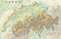 Relief map of Switzerland.