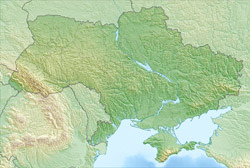 Detailed relief map of Ukraine.