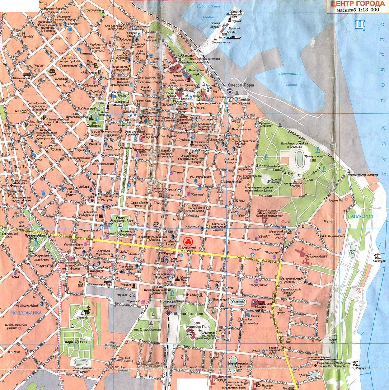 Maps of Odessa Detailed map of Odessa in English Maps of Odessa