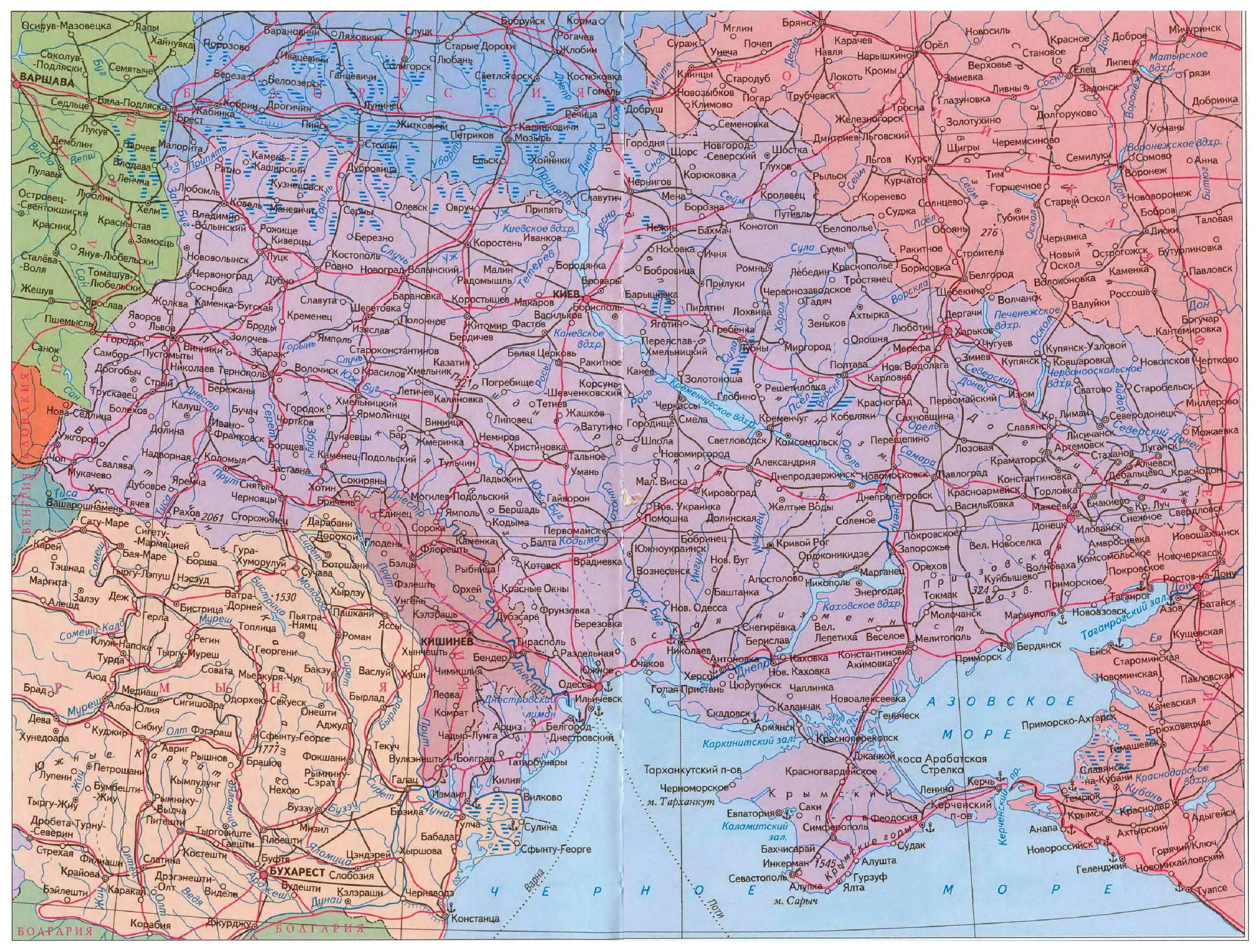 Map of Ukraine | Detailed map of Ukraine with regions and ...