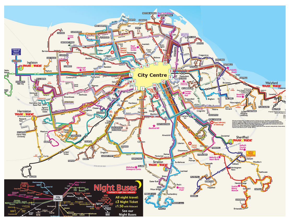 Maps of Edinburgh Detailed map of Edinburgh in English – Tourist Map Of Edinburgh