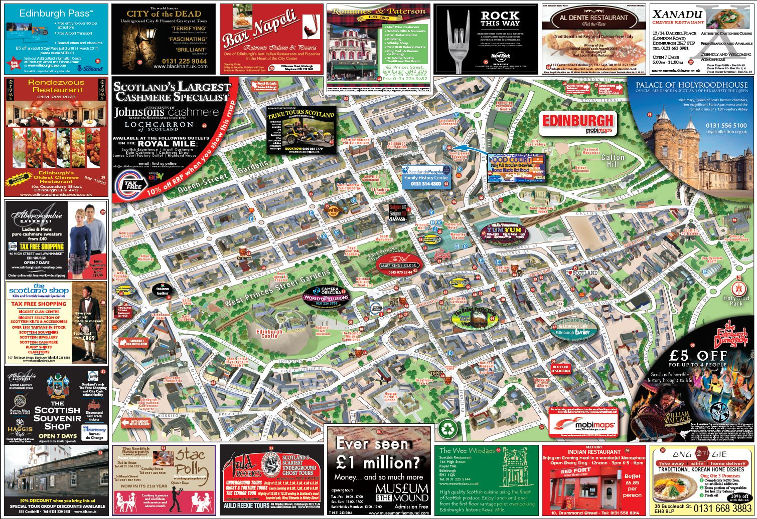 Maps of Edinburgh Detailed map of Edinburgh in English Maps of