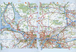 Large detailed roads map of Glasgow and the surrounding area.
