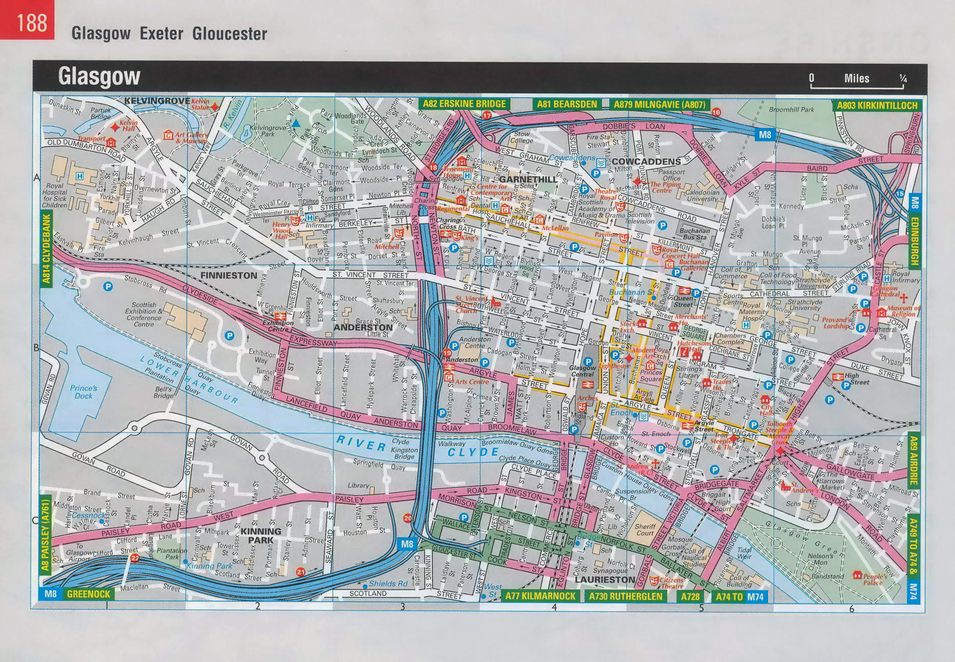 Maps of Glasgow Detailed map of Glasgow in English Maps of