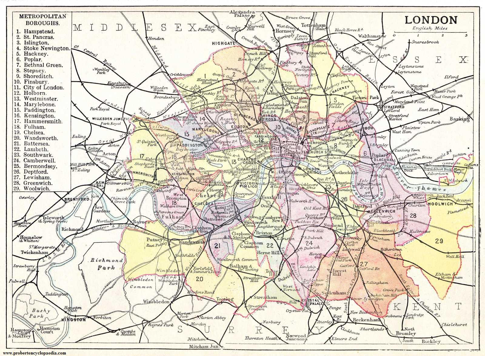 Maps of London Detailed map of London in English Maps of London