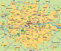 Transit map of London city.