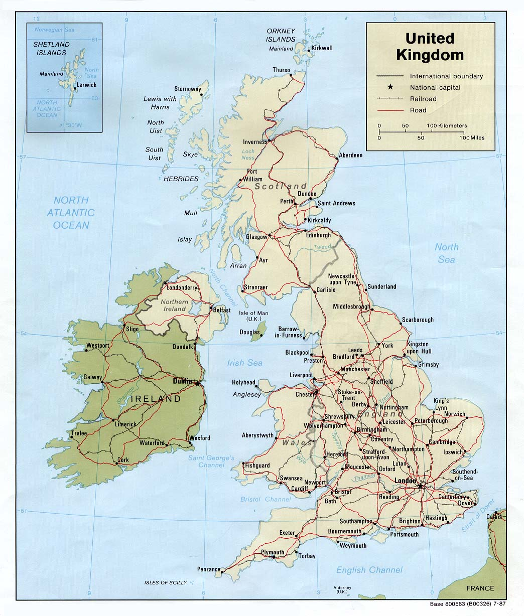 Map Of Uk And Ireland With Cities.Maps Of The United Kingdom Detailed Map Of Great Britain In