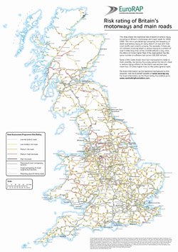 Road map of Great Britain.