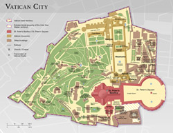Detailed map of Vatican city.