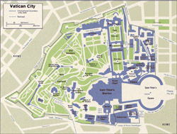 Map of Vatican city.