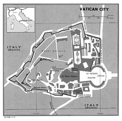 Political map of Vatican city.
