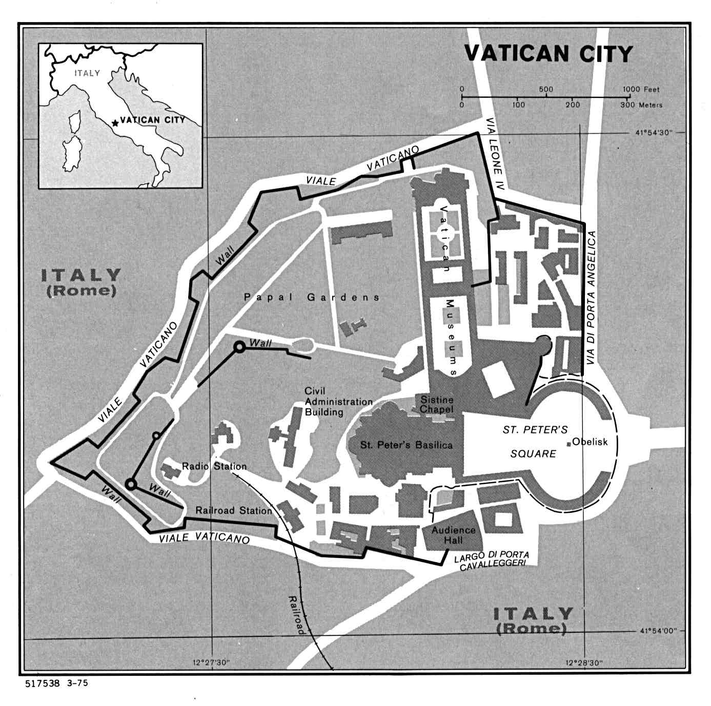 Maps of Vatican  Detailed map of the Vatican in English  Tourist