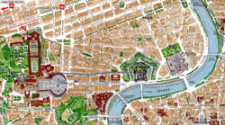 Vatican city area map.