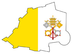 Vatican city flag map.