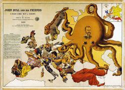 Large detailed a serio comic map of Europe - 1900.