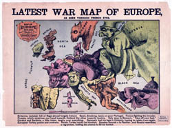 Large detailed Latest War map of Europe 1835 - 1875.
