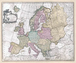 Large detailed old political map of Europe - 1814.